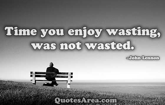 Time-you-enjoy-wasting-was-not-wasted